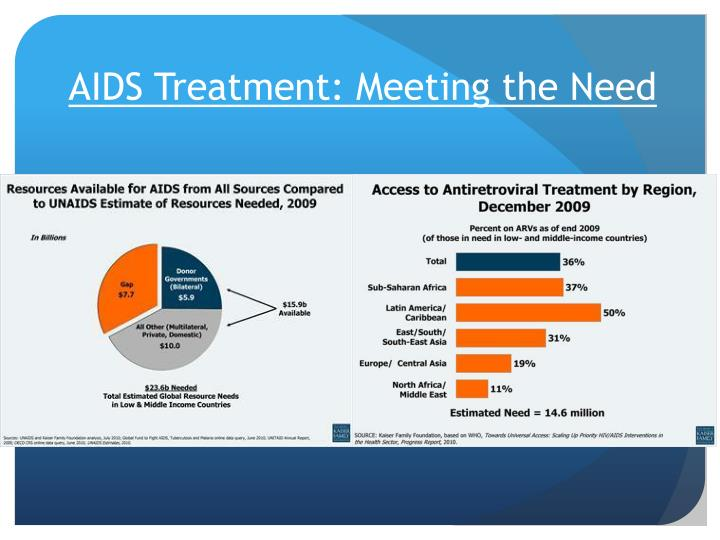 AIDS Treatment: Meeting the Need
