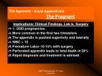 the appendix acute appendicitis the pregnant