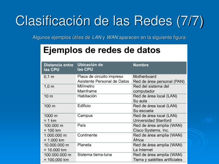 Clasificación de las Redes (7/7)