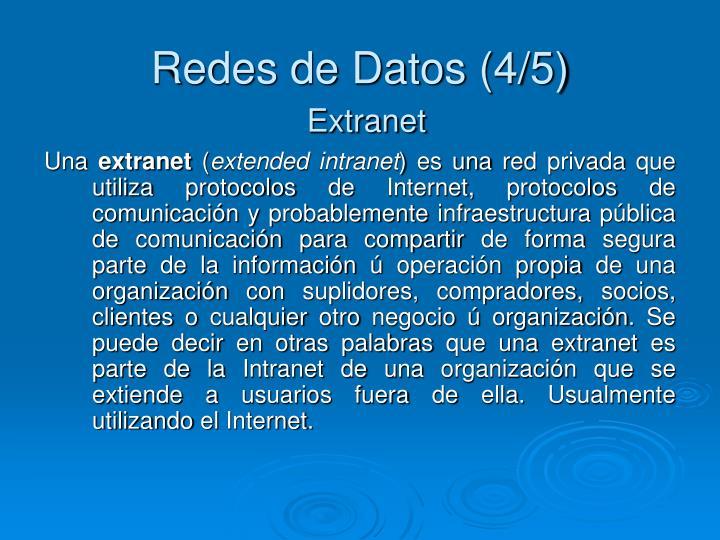 Redes de Datos (4/5)