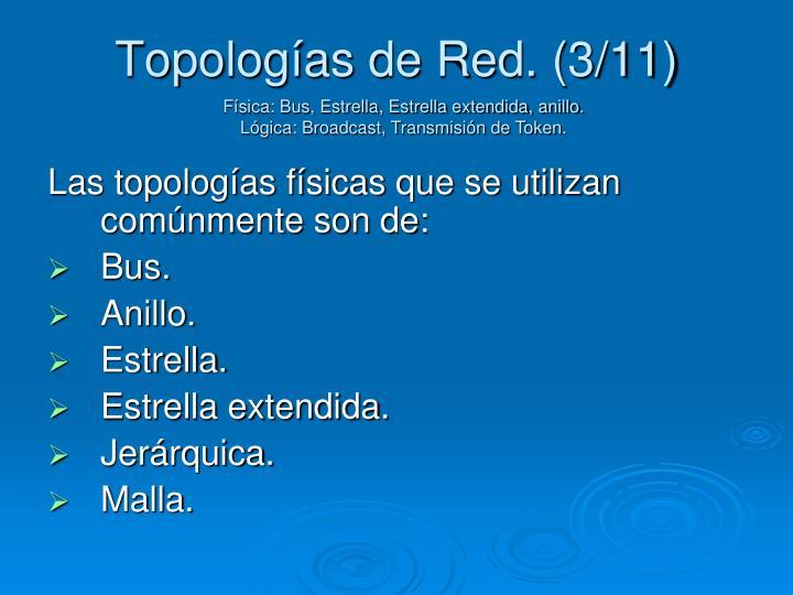Topologías de Red. (3/11)