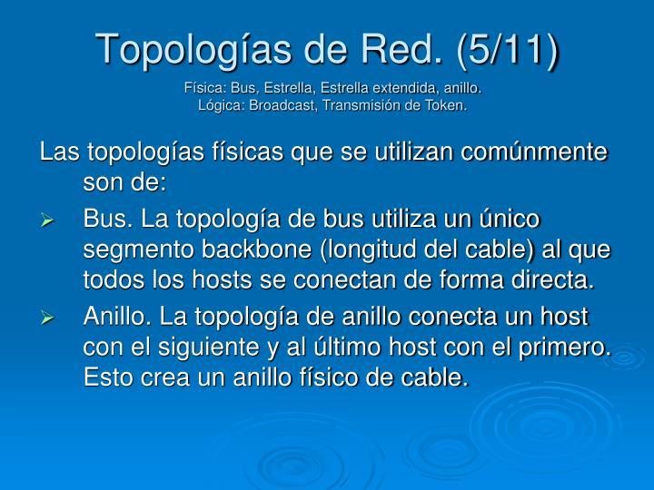 Topologías de Red. (5/11)
