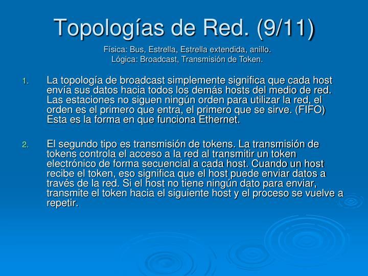 Topologías de Red. (9/11)