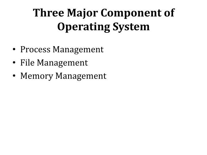 Three Major Component of Operating System
