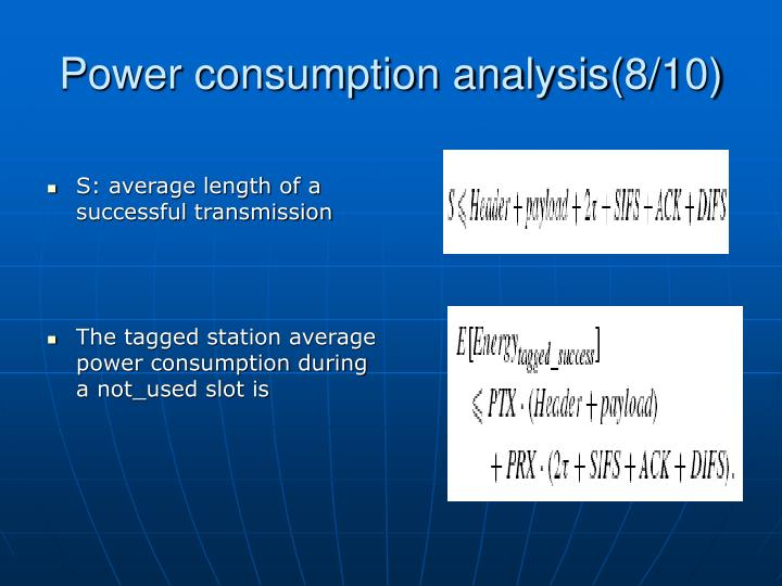 Power consumption analysis(8/10)