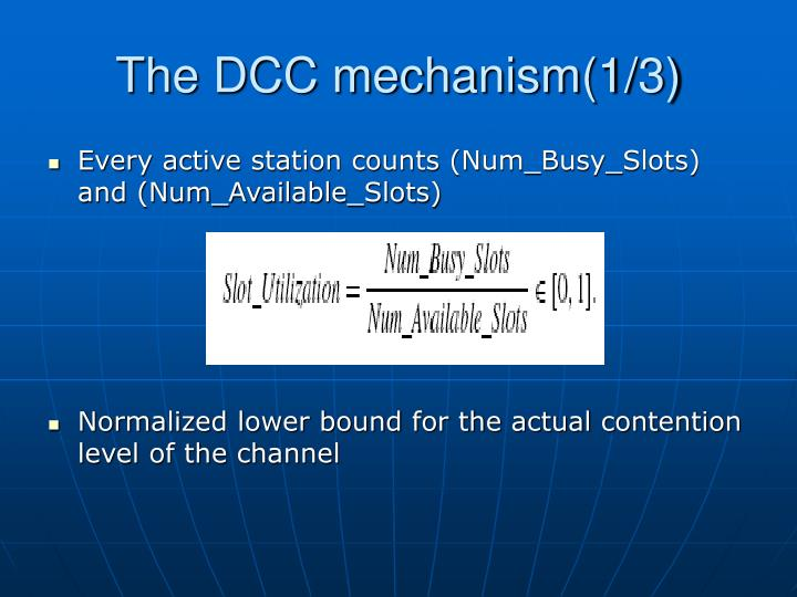 The DCC mechanism(1/3)
