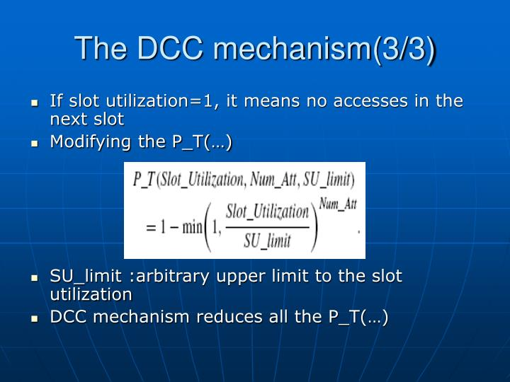 The DCC mechanism(3/3)