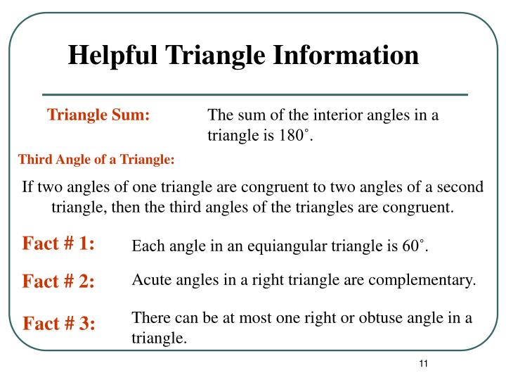 Helpful Triangle Information