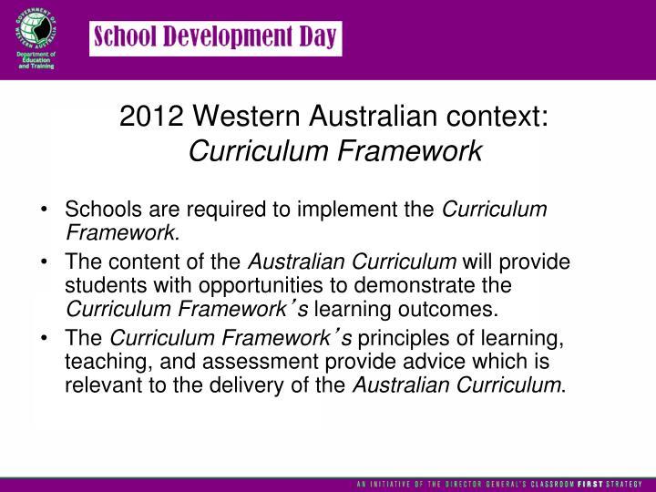 2012 Western Australian context: