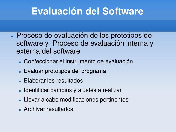 Evaluación del Software