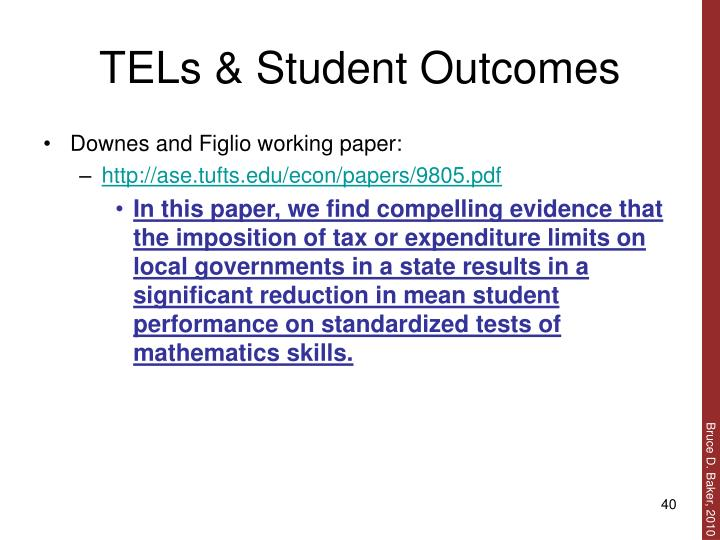 TELs & Student Outcomes
