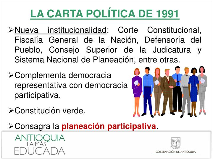 LA CARTA POLÍTICA DE 1991