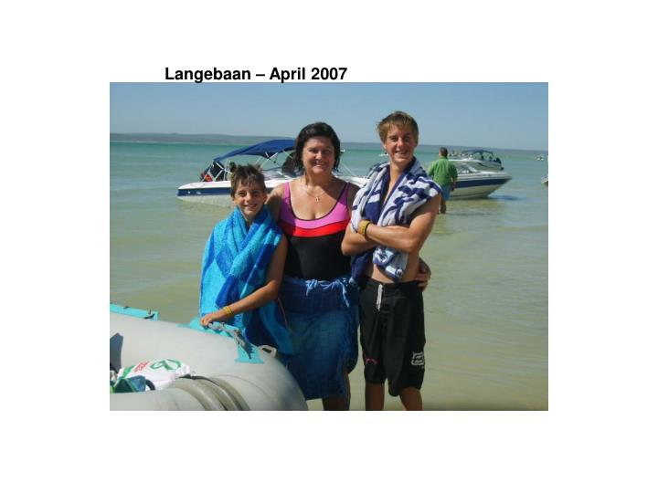 Langebaan – April 2007