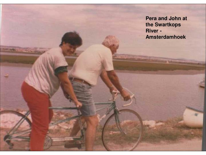 Pera and John at the Swartkops  River - Amsterdamhoek