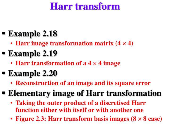 Harr transform