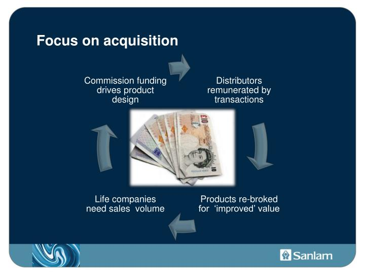 Focus on acquisition
