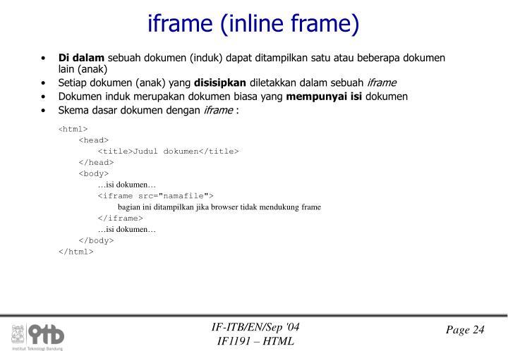 iframe (inline frame)