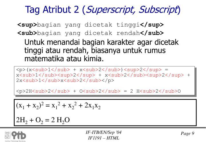 Tag Atribut 2 (