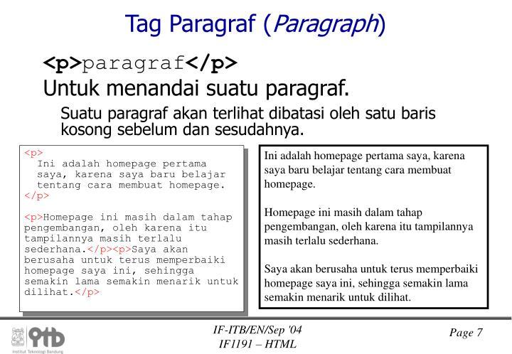 Tag Paragraf (