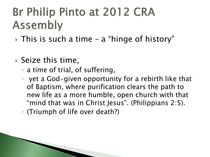 Br Philip Pinto at 2012 CRA Assembly