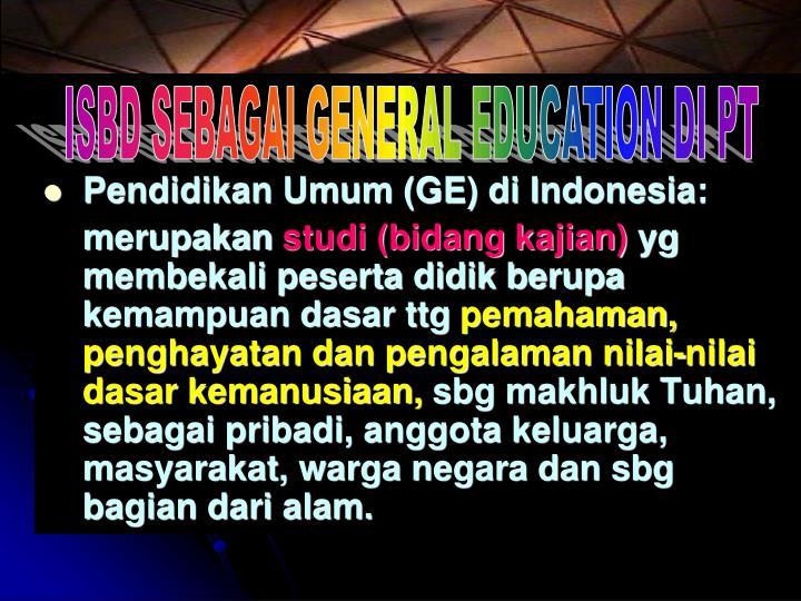Pendidikan Umum (GE) di Indonesia: