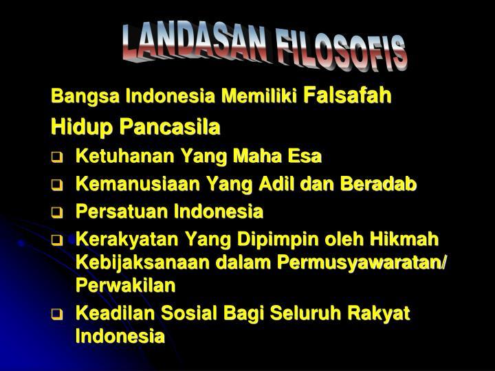 Bangsa Indonesia Memiliki