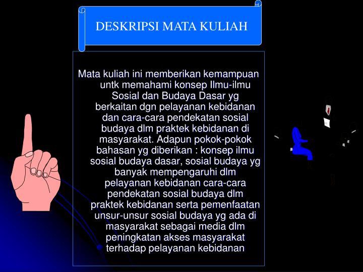 DESKRIPSI MATA KULIAH