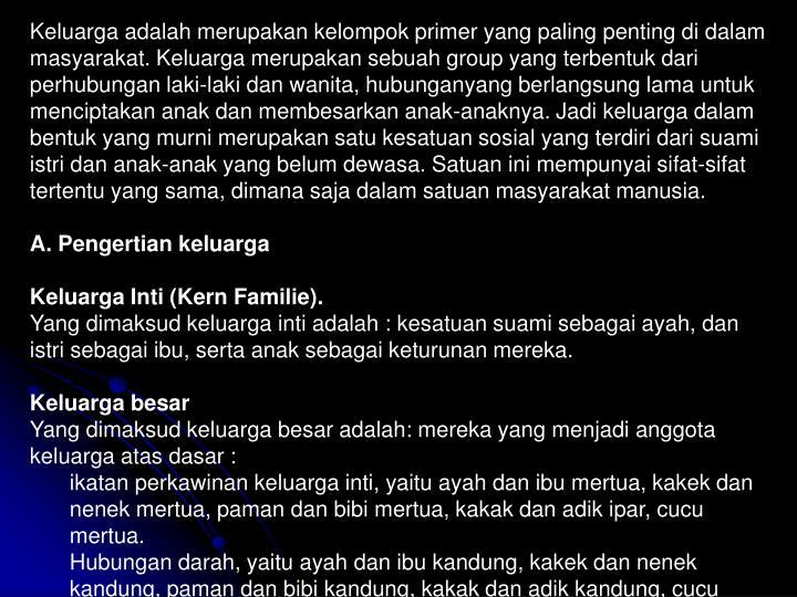 2.2. Konsep keluarga sebagai anggota masyarakat.