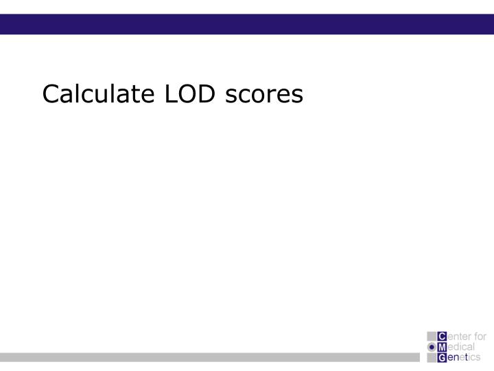 Calculate LOD scores