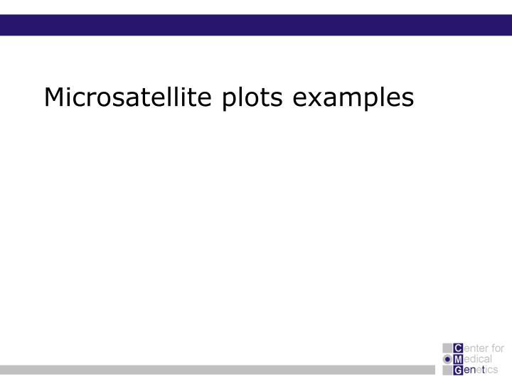 Microsatellite plots examples