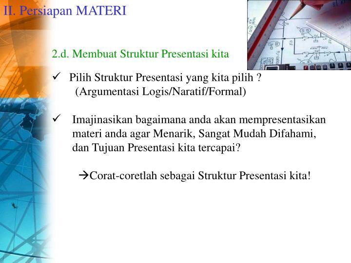 II. Persiapan MATERI