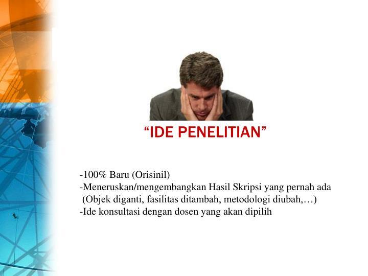 """IDE PENELITIAN"""
