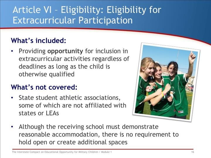 Article VI – Eligibility: Eligibility for Extracurricular Participation