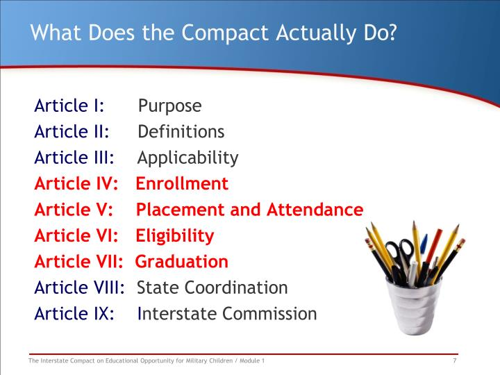 What Does the Compact Actually Do?