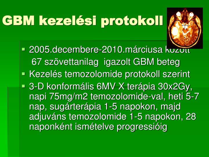 GBM kezelési protokoll