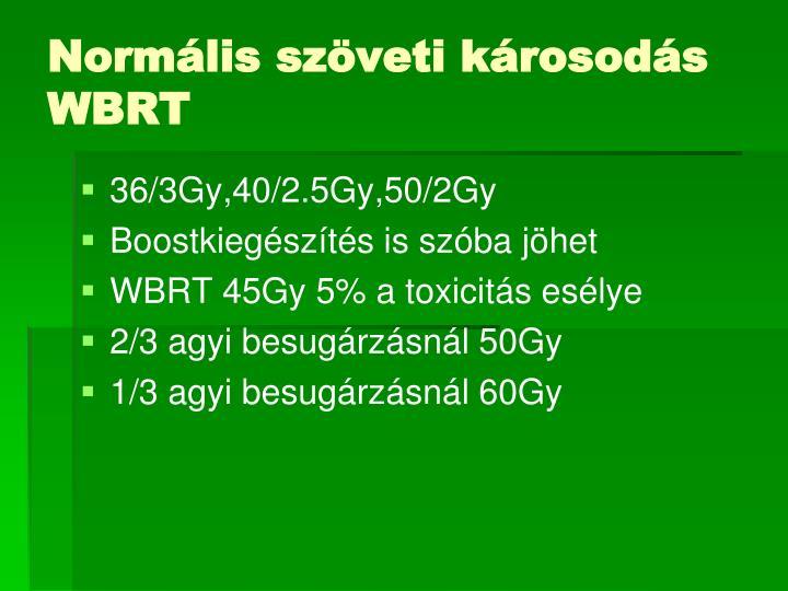 Normális szöveti károsodás WBRT