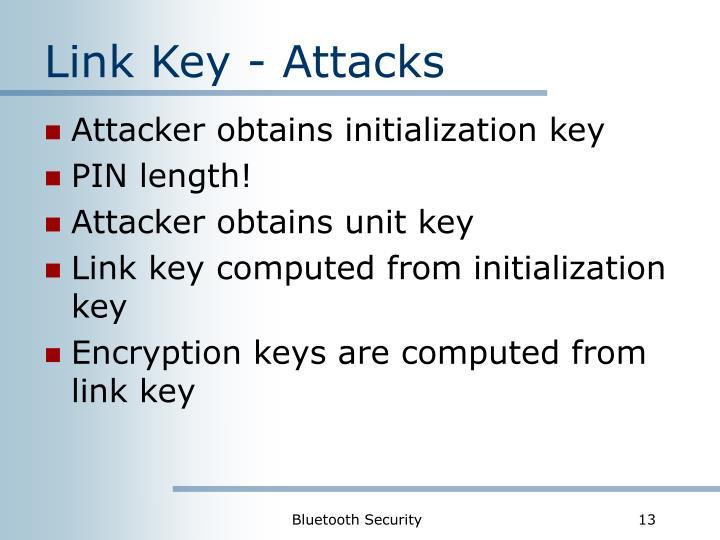 Link Key - Attacks