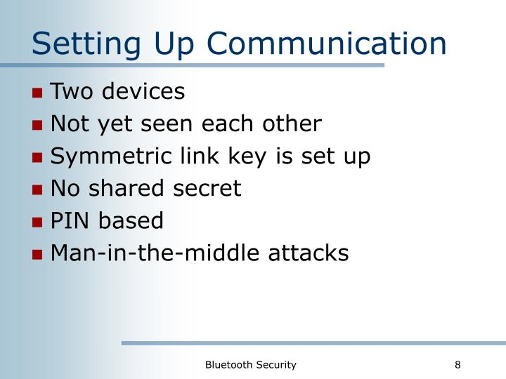 Setting Up Communication