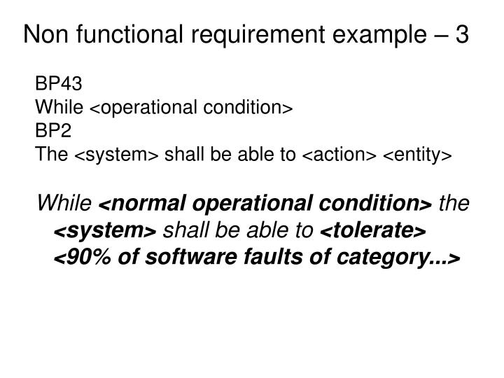 Non functional requirement example – 3