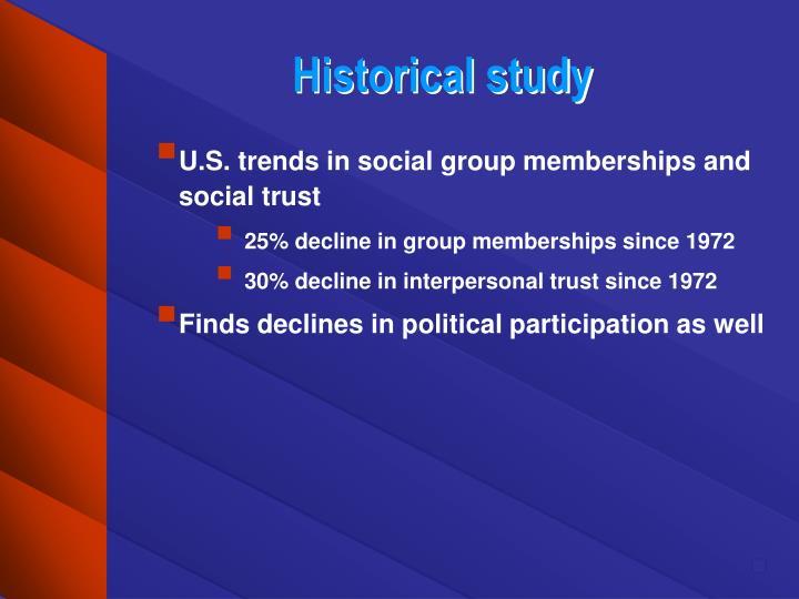 Historical study