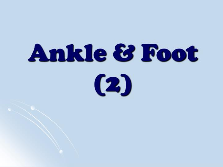 Ankle foot 2