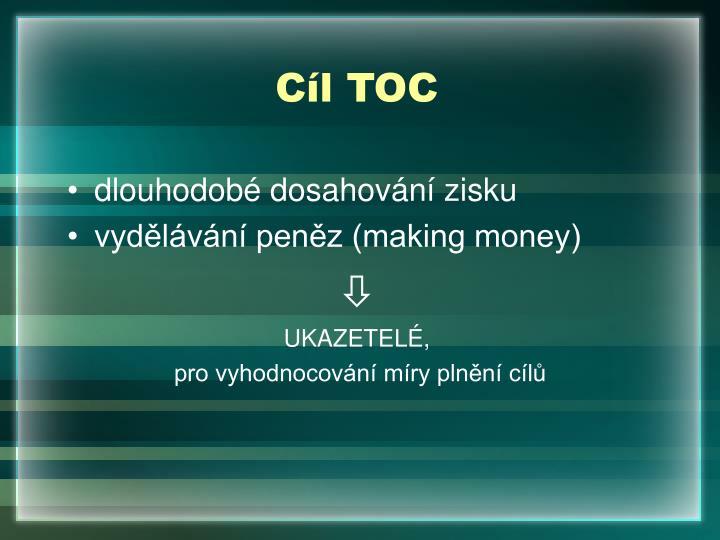 Cíl TOC