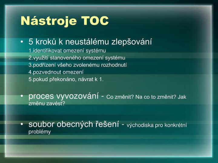 Nástroje TOC