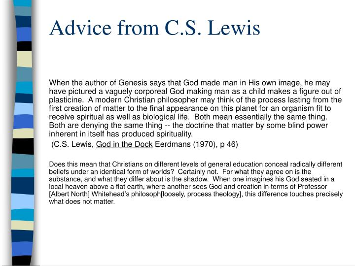 Advice from C.S. Lewis