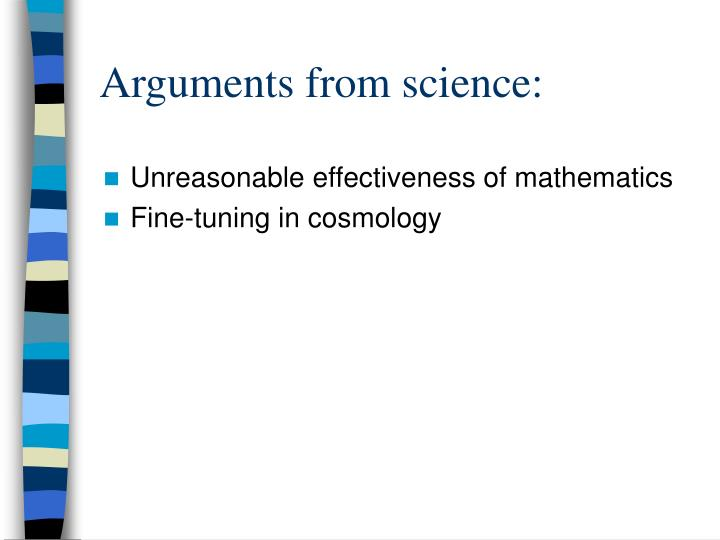 Arguments from science: