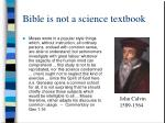 bible is not a science textbook