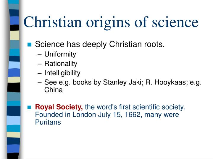 Christian origins of science