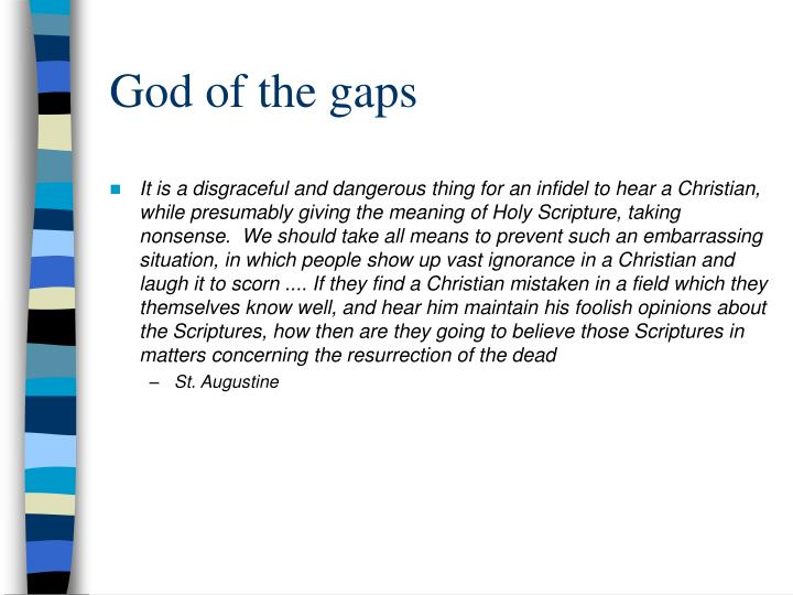God of the gaps