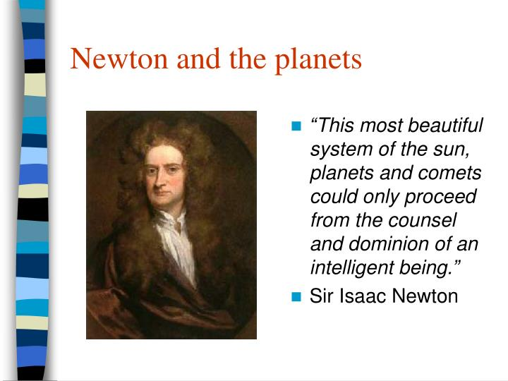 Newton and the planets