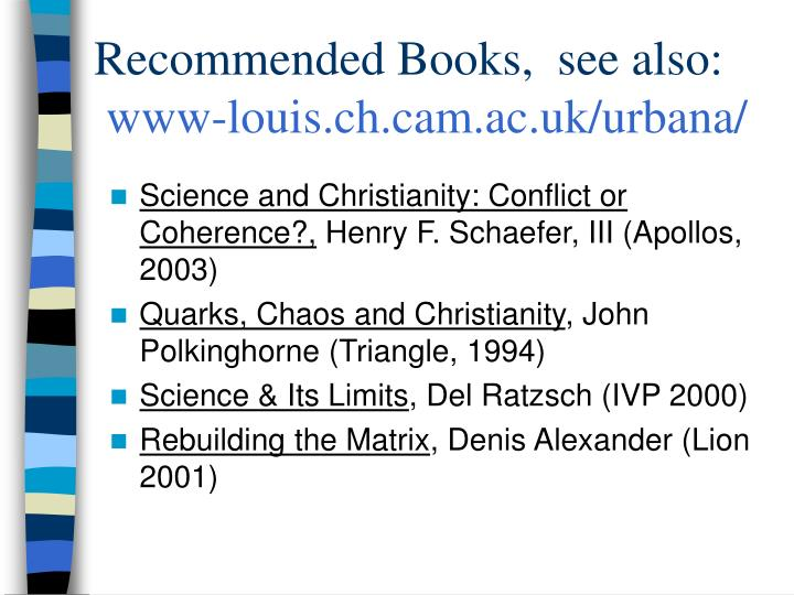 Recommended Books,  see also: